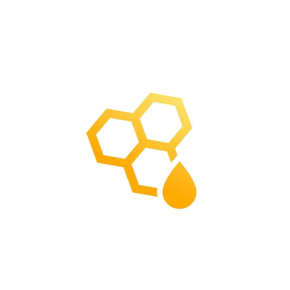 miel et nid d'abeille, vector logo icon.eps