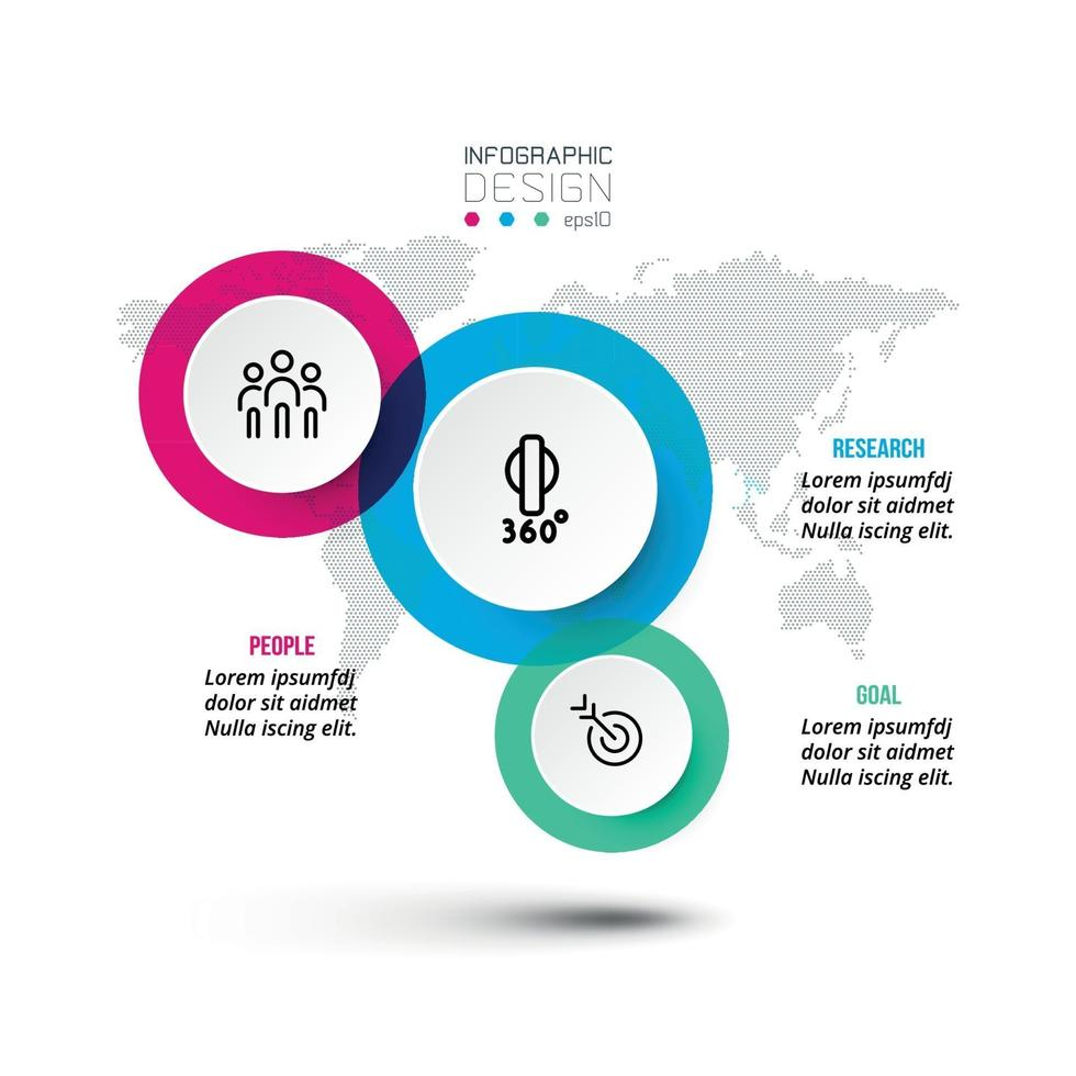 conception de modèle infographique commercial ou marketing. vecteur