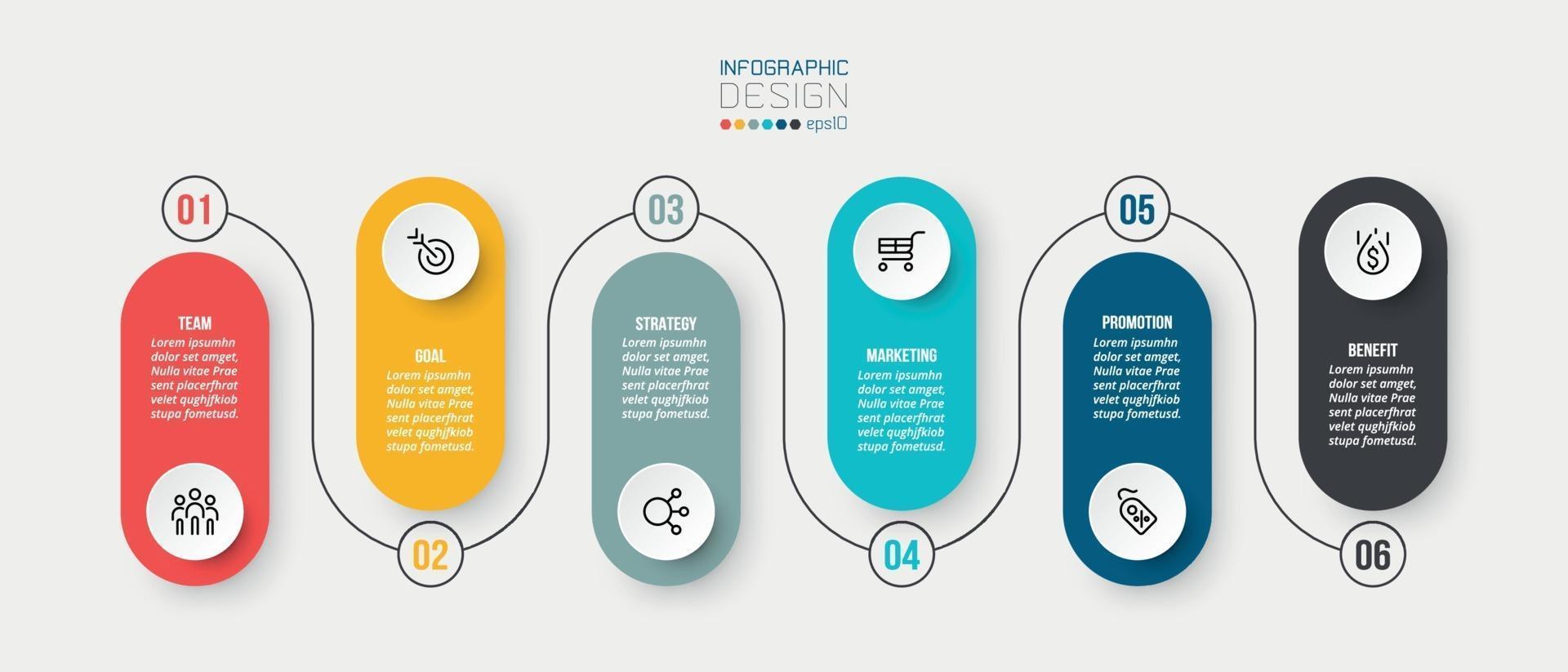 modèle d'infographie entreprise graphique chronologique. vecteur