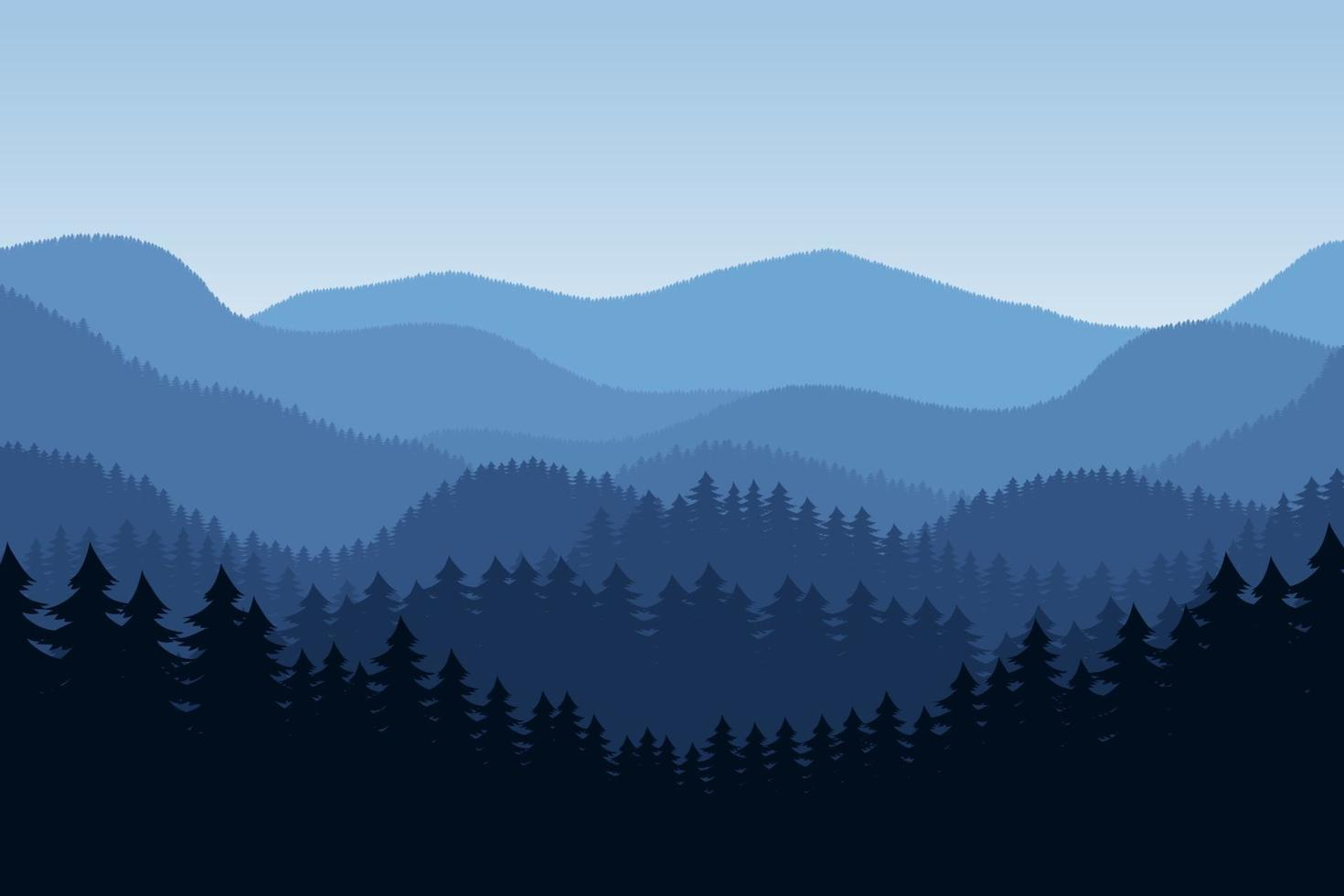 illustration de conception de vecteur de fond de paysage forestier