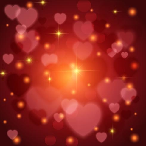 Fond de coeurs de la Saint-Valentin vecteur