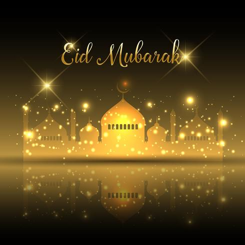 Fond d'Eid Moubarak vecteur