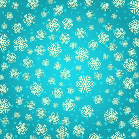 Flocons de neige et étoiles vecteur