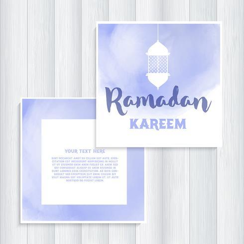 Conception d'invitation Ramadan vecteur
