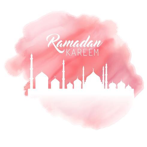 Fond d'aquarelle Ramadan vecteur
