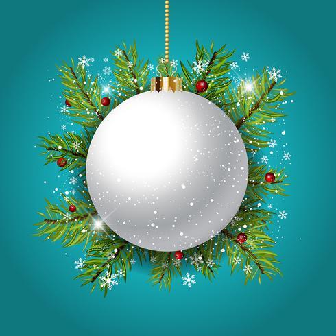 Fond de boule de Noël décoratif vecteur