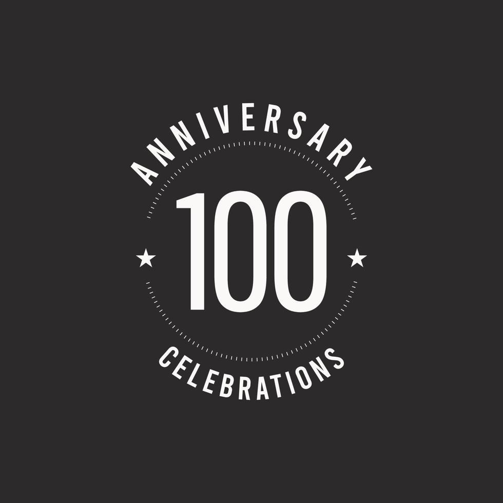 100 ans anniversaire célébration vector logo icône modèle illustration de conception