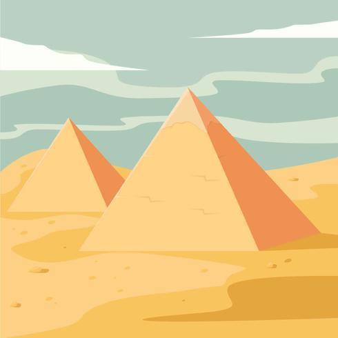 Illustration vectorielle de pyramides vecteur