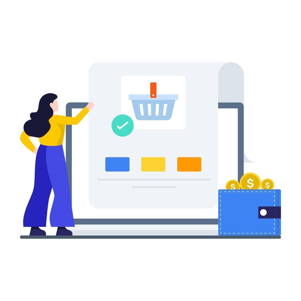 concept de commande d'achat en ligne vecteur