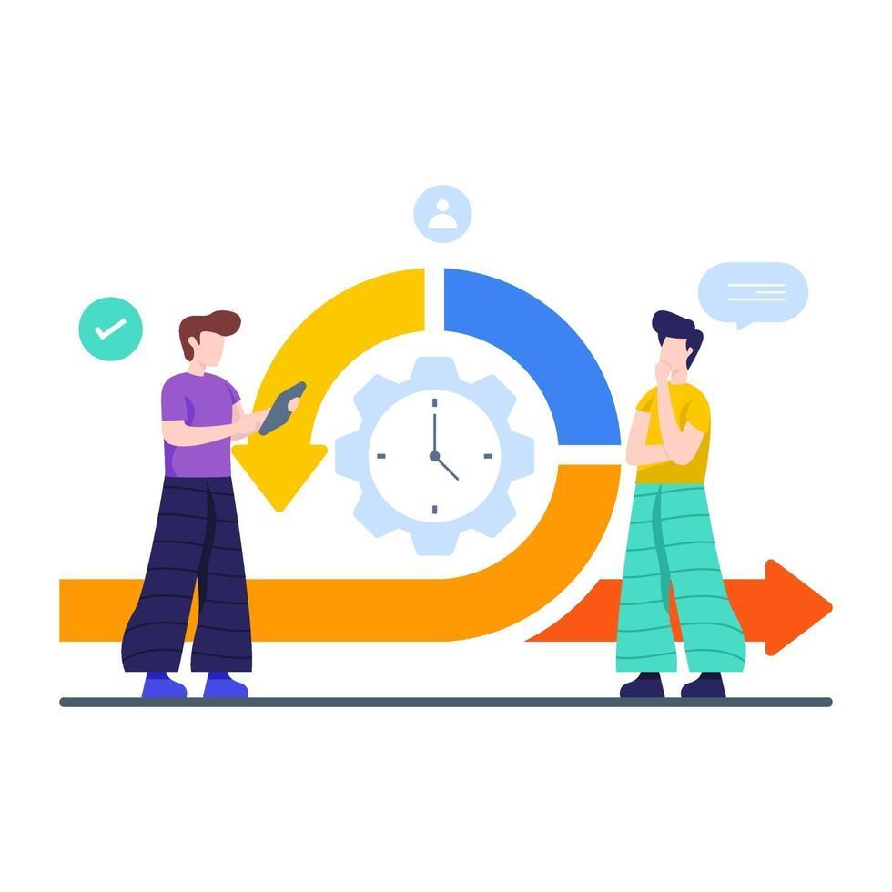 méthodologie agile dans le concept de gestion de projet vecteur