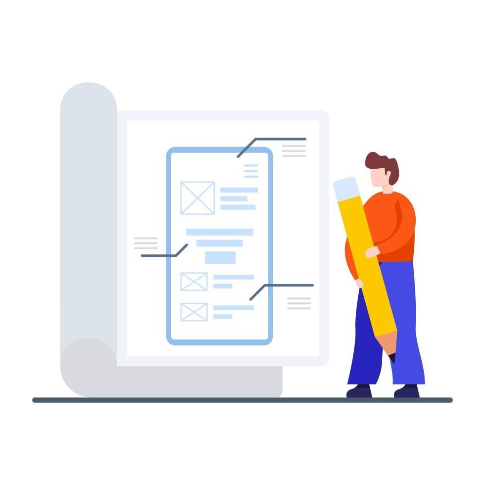 outils de prototypage pour le concept d'application vecteur