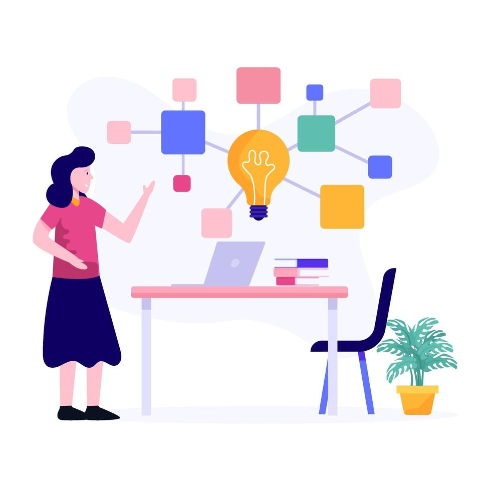 brainstorming dans le concept d & # 39; entreprise vecteur