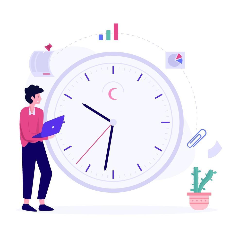 fixer des délais pour le concept de projet vecteur