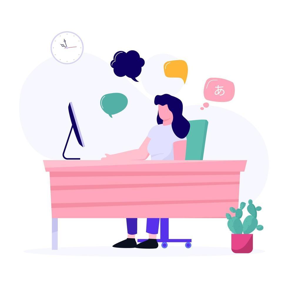 concept de forum de discussion en ligne vecteur