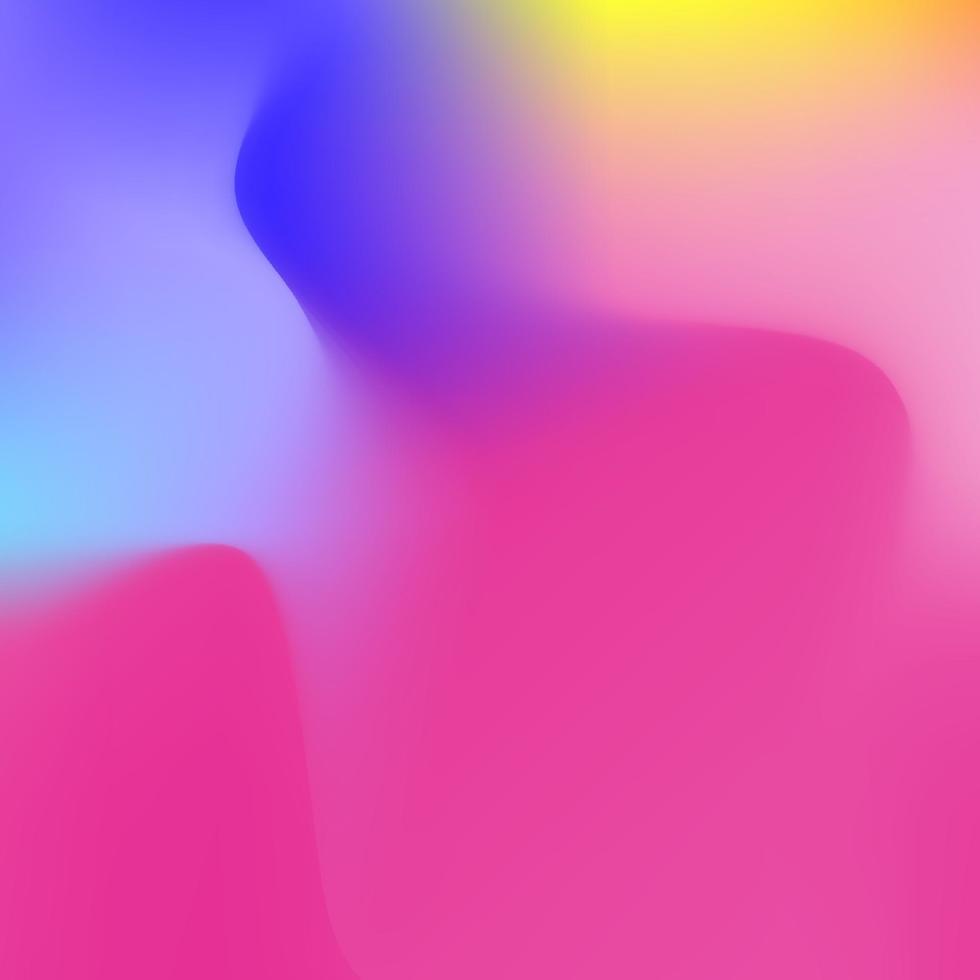 fond holographique abstrait dans la conception de couleur néon pastel. fond d'écran flou. illustration vectorielle pour votre style moderne tendances 80s 90s background pour la conception créative vecteur