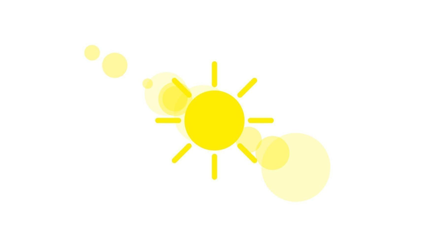icône de signe de temps ensoleillé sur fond blanc. illustration du soleil jaune vecteur