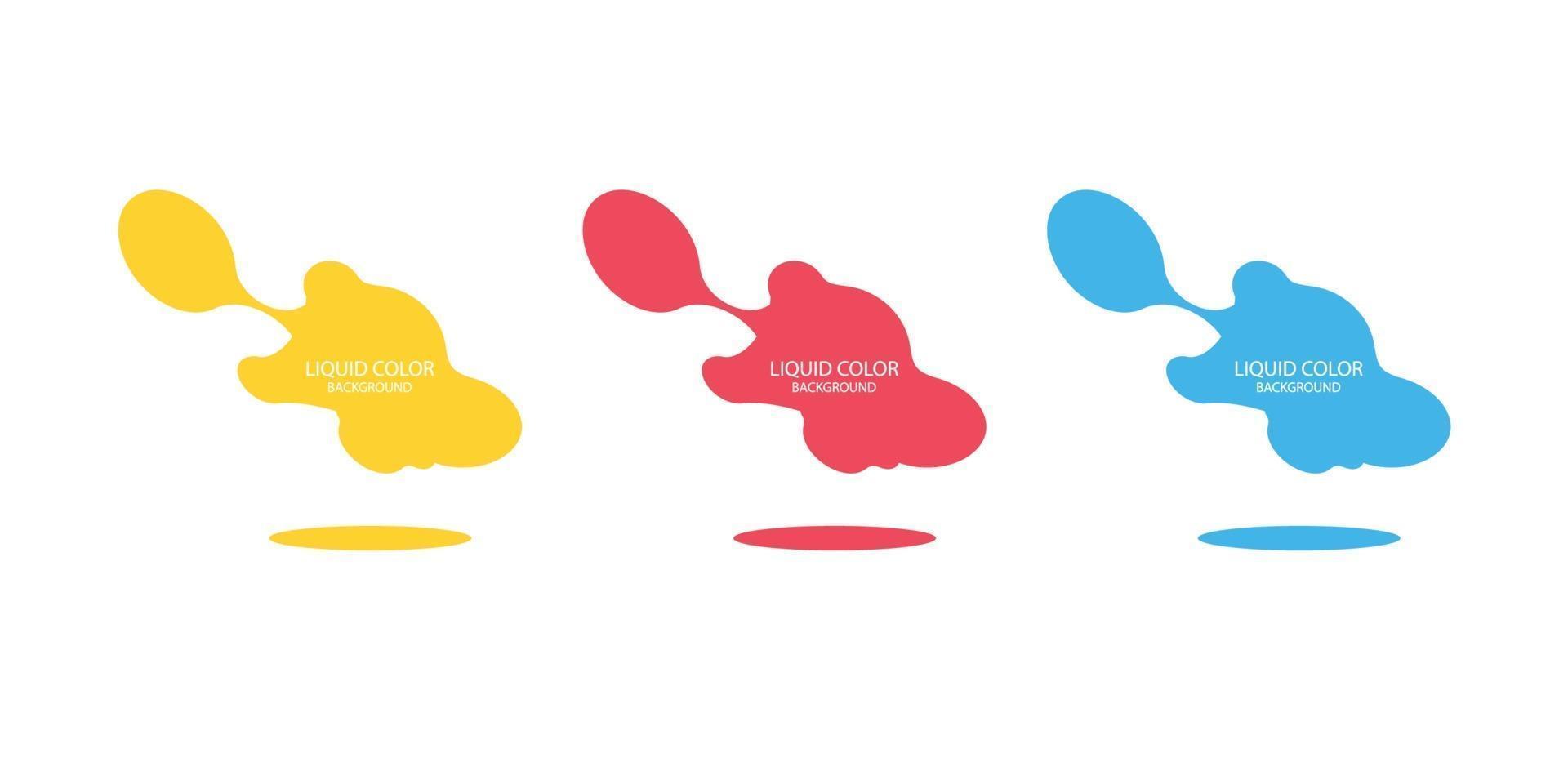 ensemble de bannière vectorielle abstraite moderne. forme liquide géométrique plate avec différentes couleurs. modèle vectoriel moderne, modèle pour la conception d'un logo, d'un dépliant ou d'une présentation. formes géométriques abstraites