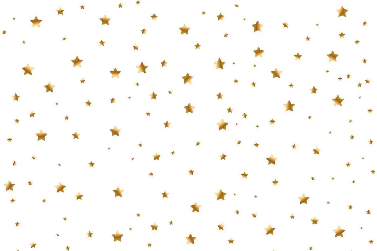 ensemble d'étoiles filantes dorées. nuage d'étoiles dorées isolé. météoroïde, comète, astéroïde, étoiles vecteur
