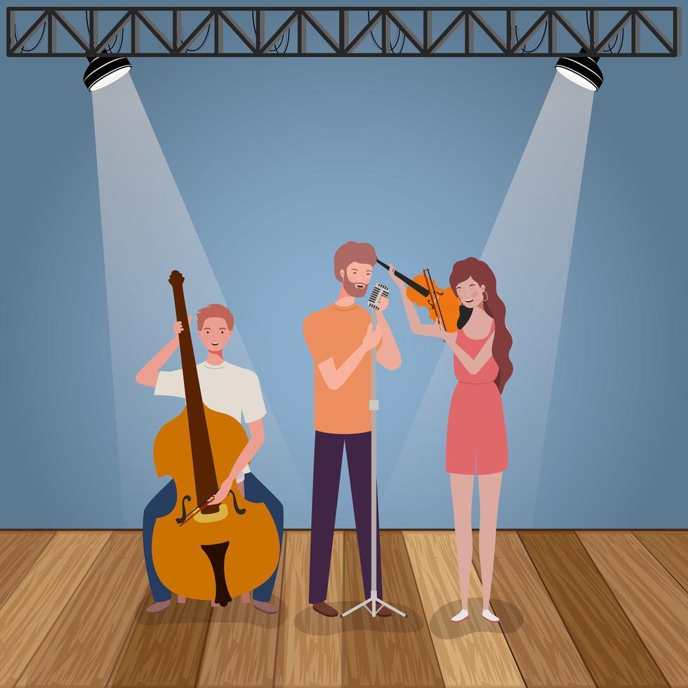 groupe de personnes jouant des instruments vecteur
