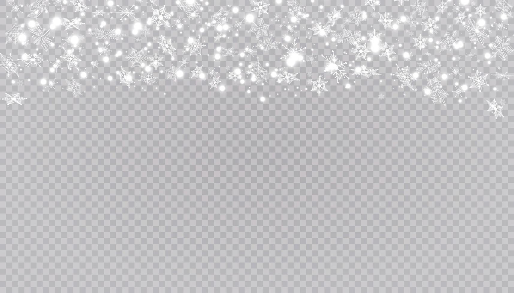 la neige blanche vole. flocons de neige de Noël. illustration de fond hiver blizzard. vecteur