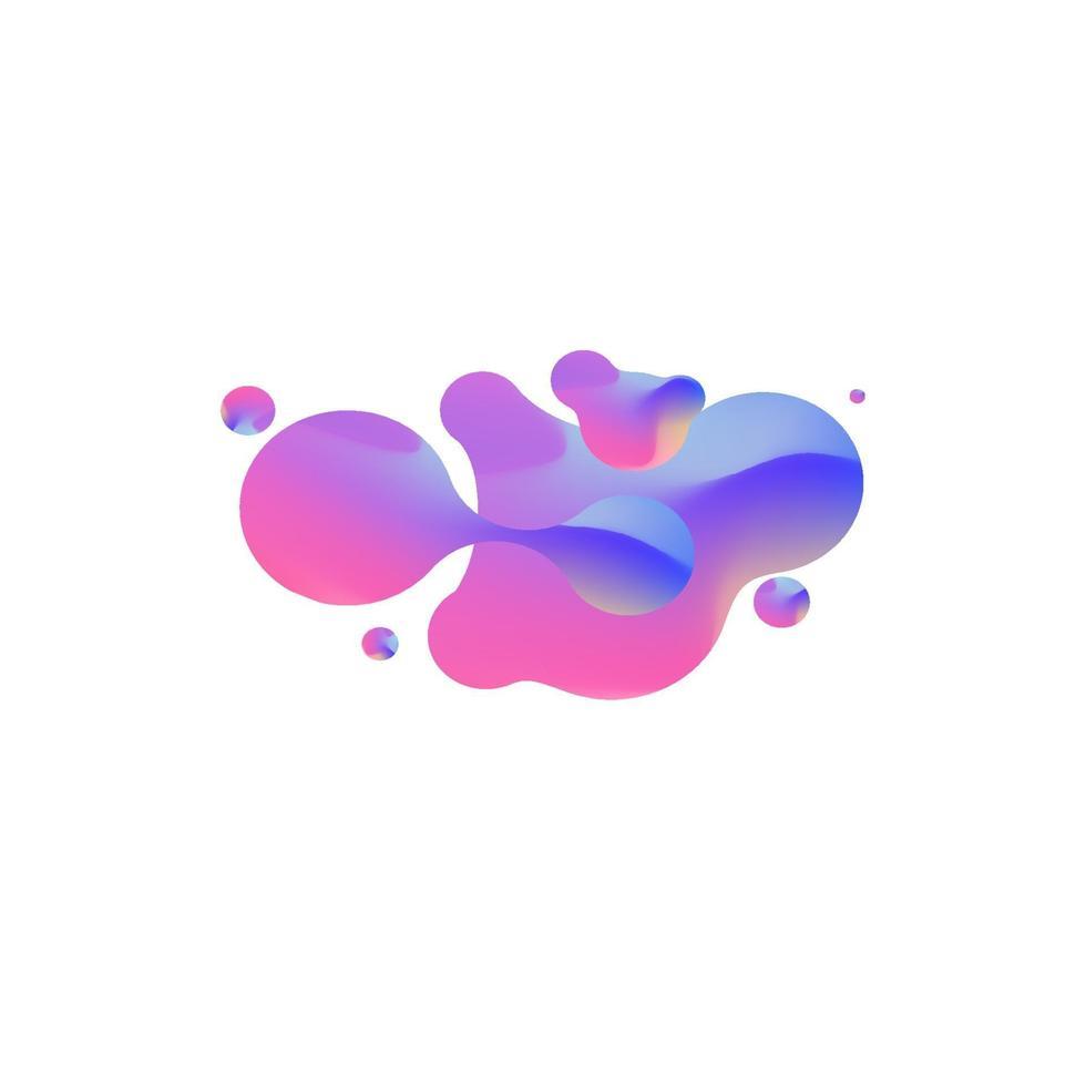 formes géométriques abstraites. bannières de dégradé liquide isolés sur blanc. fond de vecteur fluide. bannières géométriques dégradées avec des formes liquides fluides. conception fluide dynamique pour logo, flyers ou présentation. fond de vecteur abstrait
