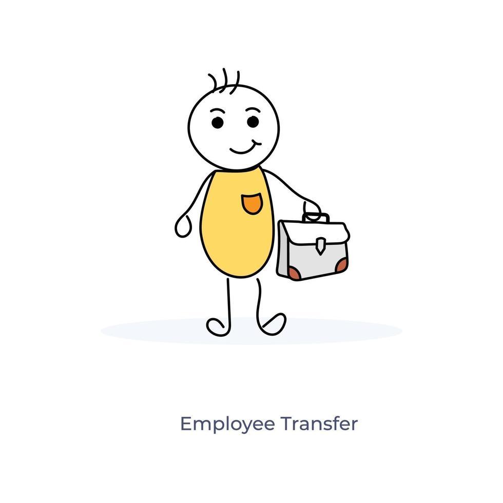 caricature de transfert d'employé vecteur