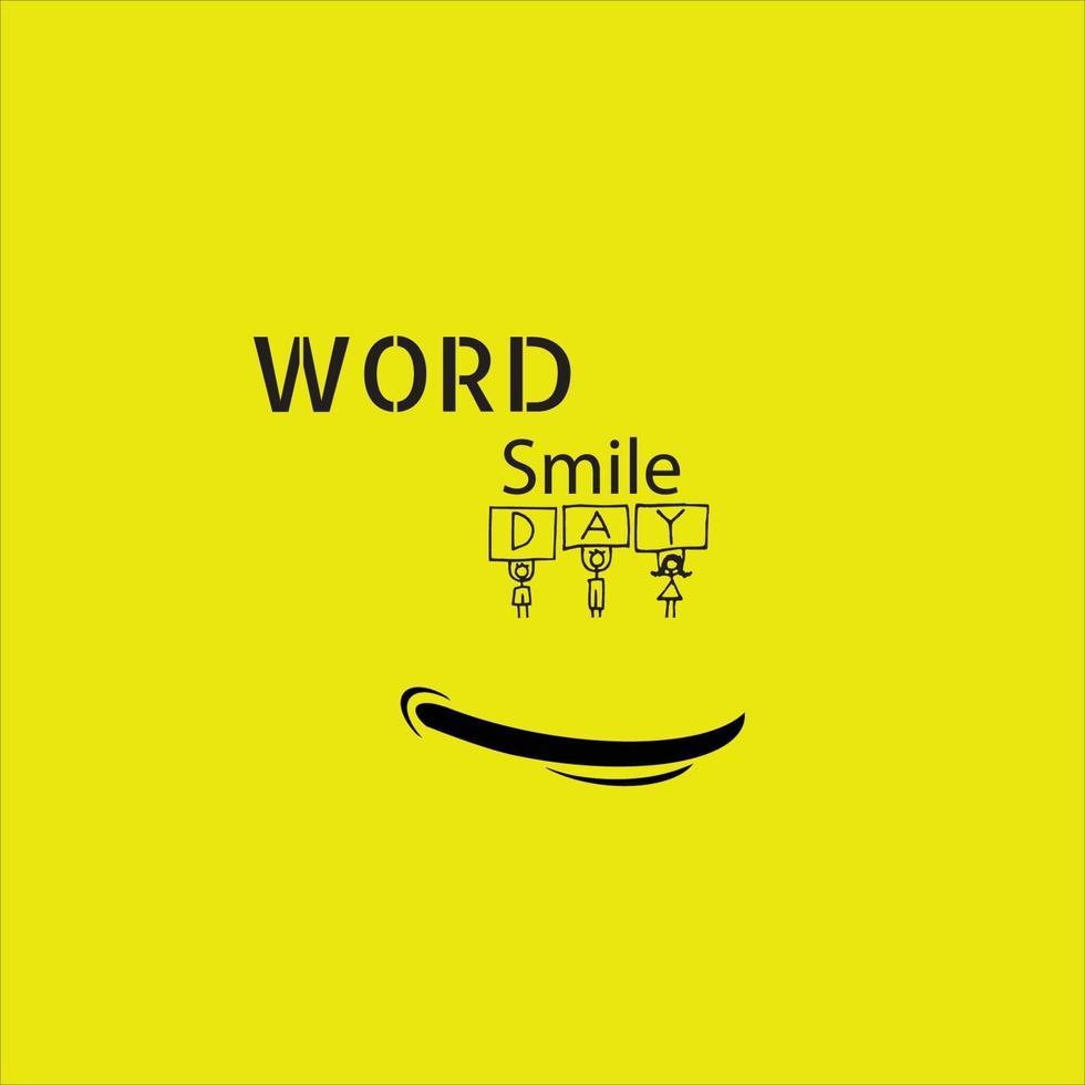 smile icon logo vector template design - Images vectorielles