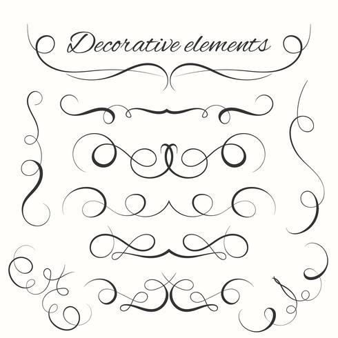 Ensemble de diviseurs dessinés à la main. Ensemble de bordures décoratives. Éléments décoratifs d'ornement vecteur