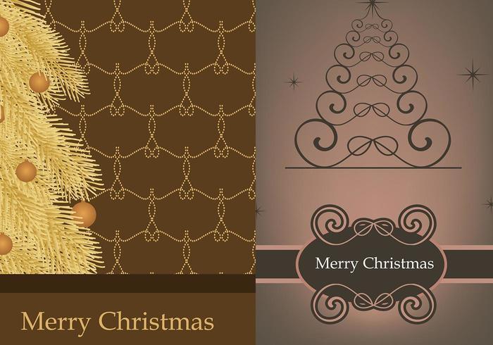 Paquet de papier peint Illustrator Christmas Tree vecteur