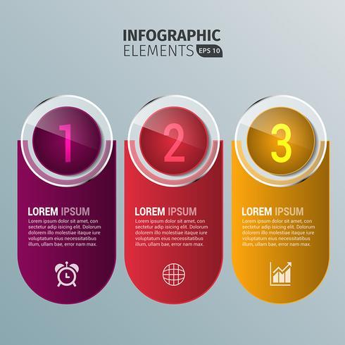 Éléments de conception infographiques arrondis vecteur