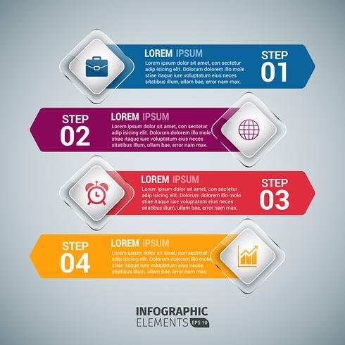Infographie de flèche colorée vecteur