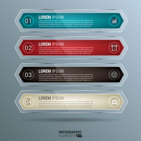 Infographie de pastilles arrondies brillantes vecteur