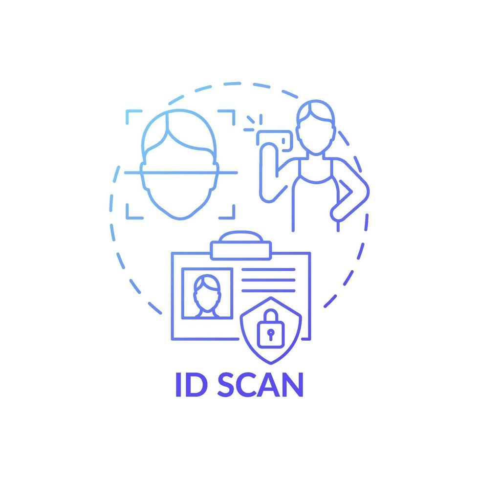 icône de concept de scan id vecteur
