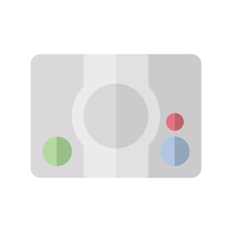 console icongame dans un style plat. illustration vectorielle et AVC modifiable. isolé sur fond blanc. vecteur