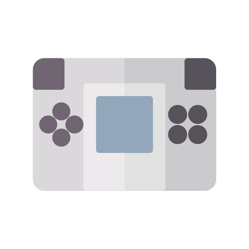 icône de la console portable dans un style plat. illustration vectorielle et AVC modifiable. isolé sur fond blanc. vecteur