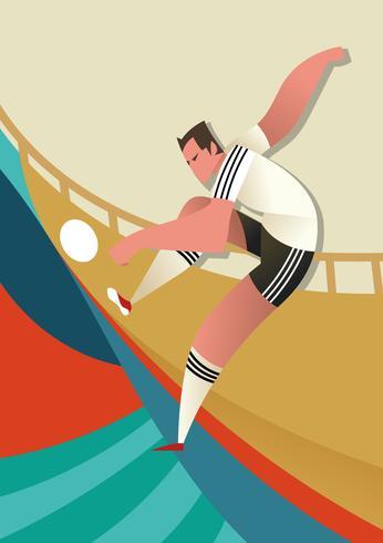 Joueurs de football de la Coupe du monde Allemagne vecteur