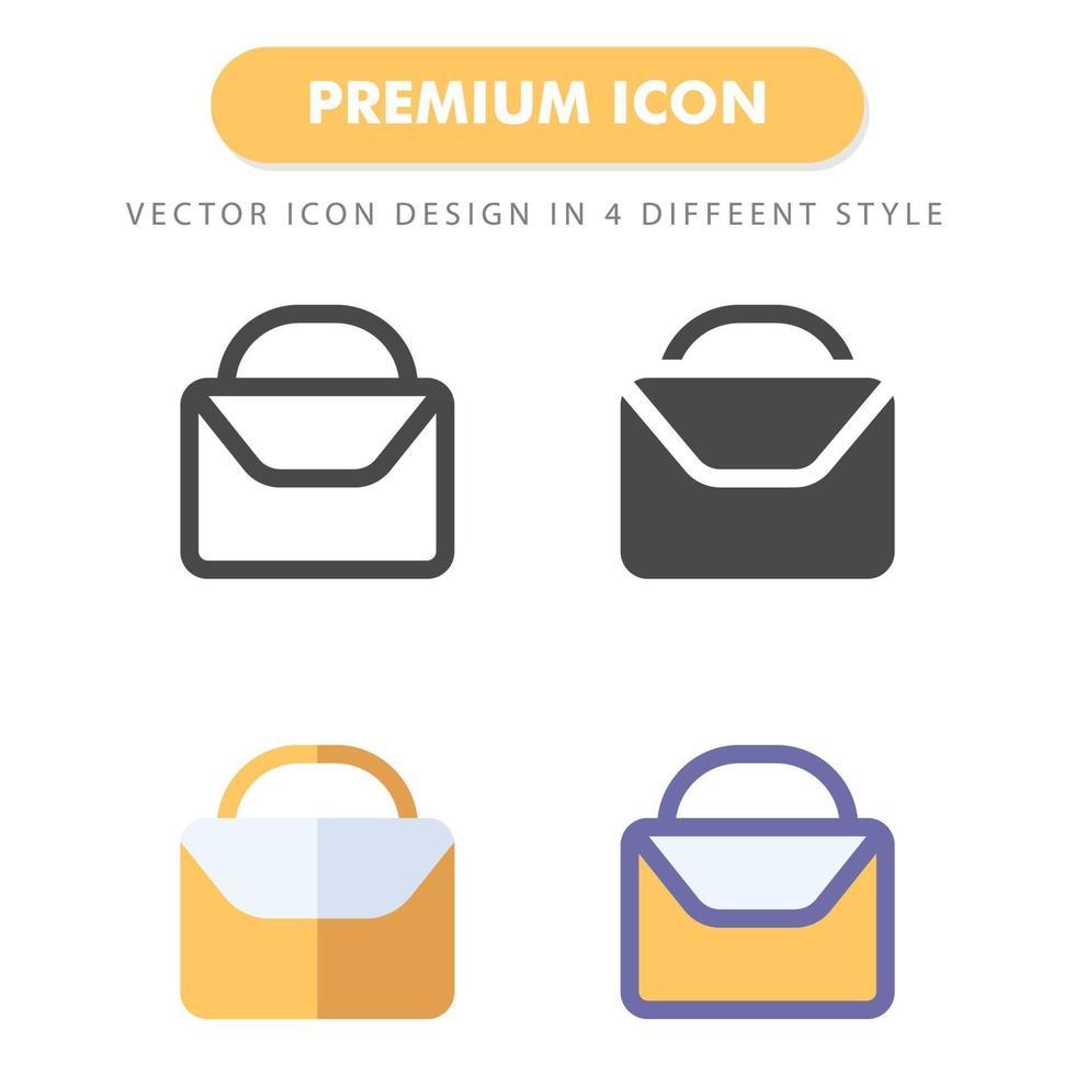 pack d'icônes porte-documents isolé sur fond blanc. pour la conception de votre site Web, logo, application, interface utilisateur. illustration graphique vectorielle et trait modifiable. eps 10. vecteur