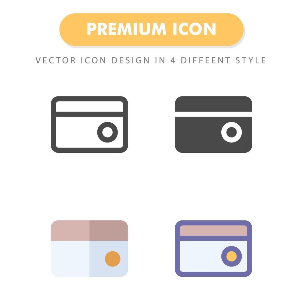 pack d'icônes de carte de crédit isolé sur fond blanc. pour la conception de votre site Web, logo, application, interface utilisateur. illustration graphique vectorielle et trait modifiable. eps 10. vecteur