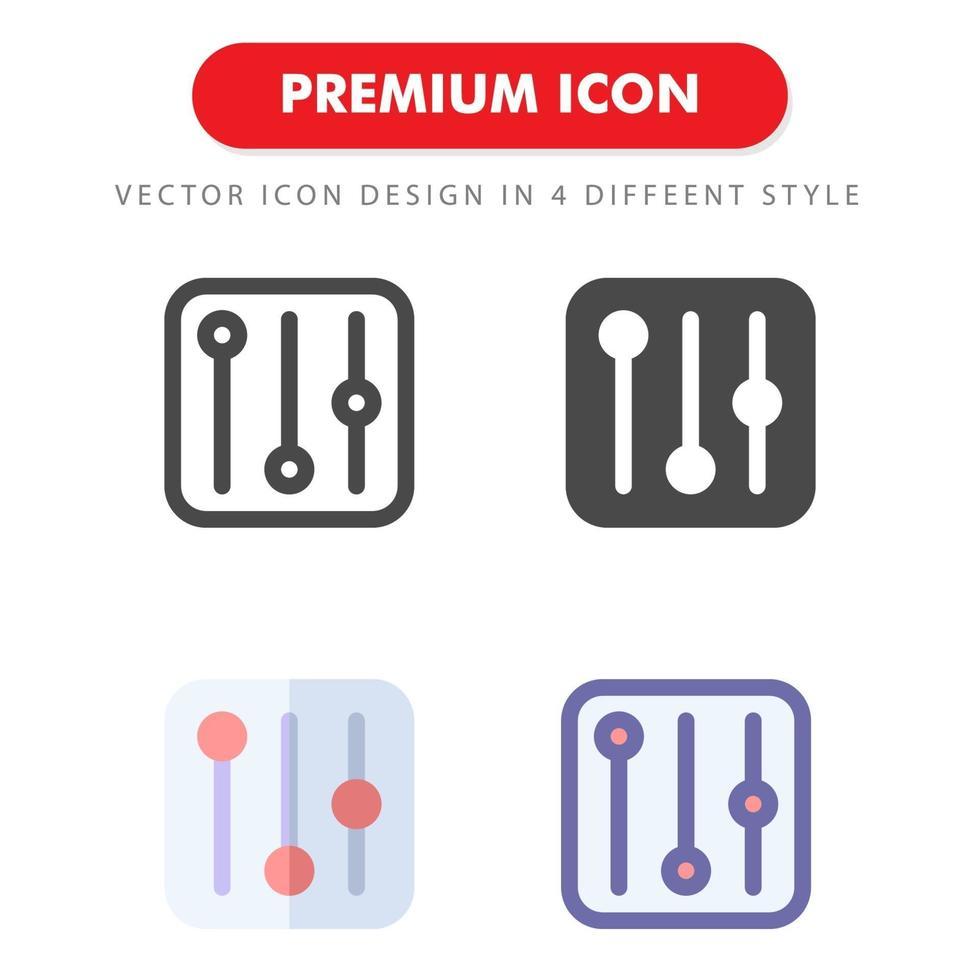 pack d'icônes égaliseur isolé sur fond blanc. pour la conception de votre site Web, logo, application, interface utilisateur. illustration graphique vectorielle et trait modifiable. eps 10. vecteur
