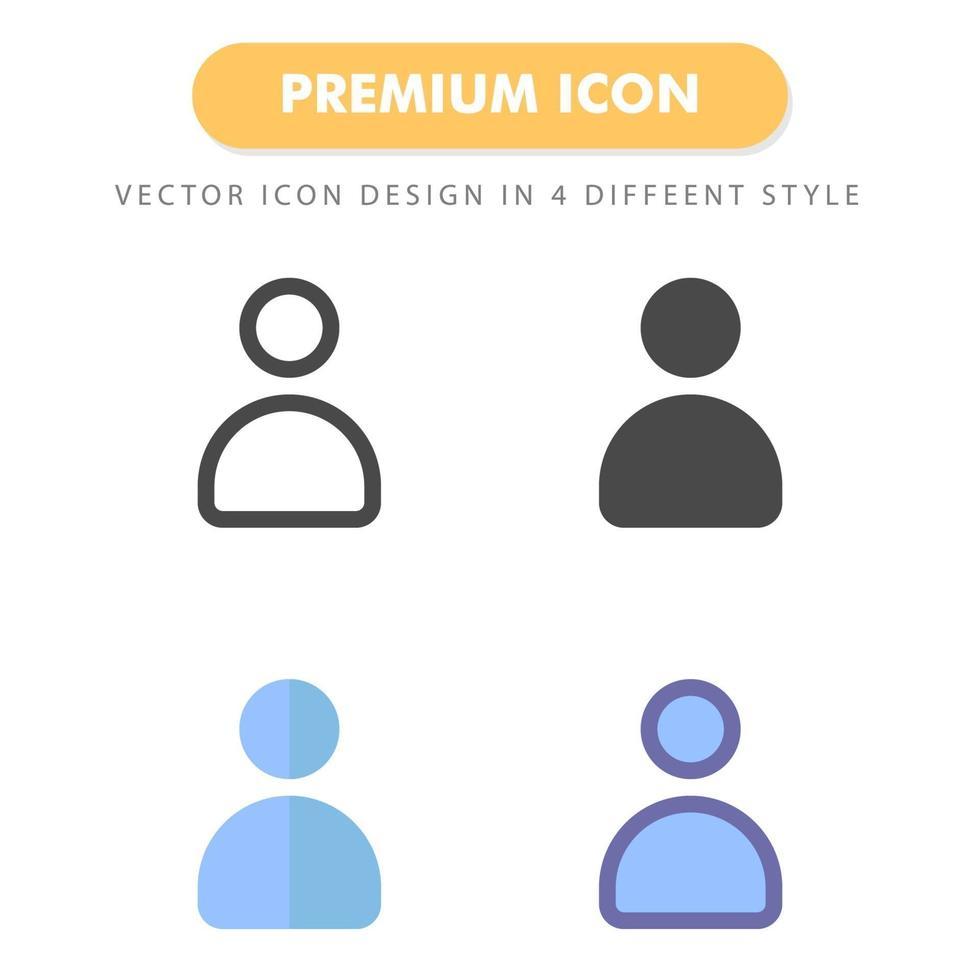 pack d'icônes utilisateur isolé sur fond blanc. pour la conception de votre site Web, logo, application, interface utilisateur. illustration graphique vectorielle et trait modifiable. eps 10. vecteur