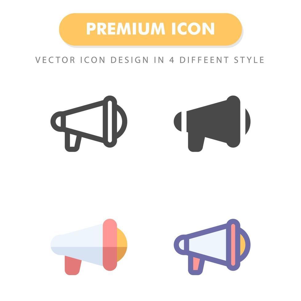 pack d'icônes de mégaphone isolé sur fond blanc. pour la conception de votre site Web, logo, application, interface utilisateur. illustration graphique vectorielle et trait modifiable. eps 10. vecteur