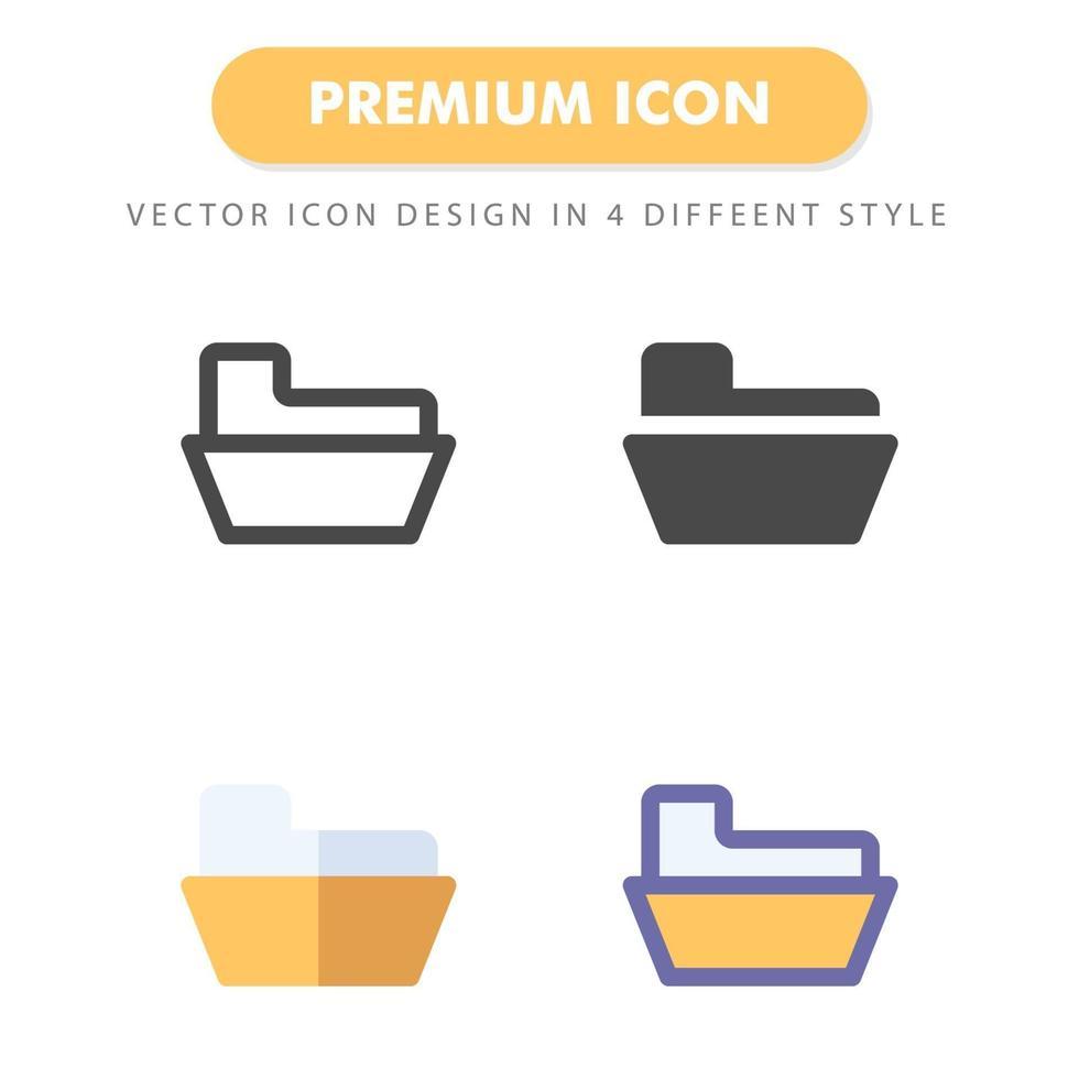 pack d'icônes de dossier isolé sur fond blanc. pour la conception de votre site Web, logo, application, interface utilisateur. illustration graphique vectorielle et trait modifiable. eps 10. vecteur
