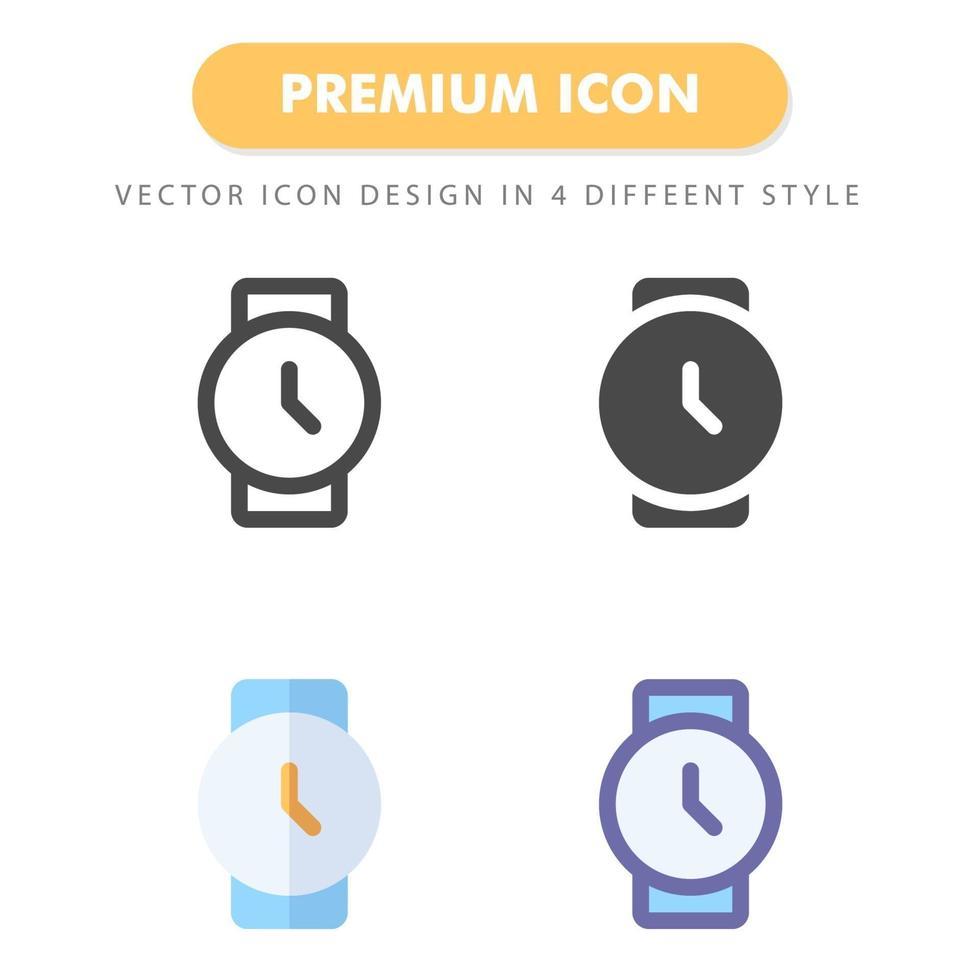 montre pack d'icônes isolé sur fond blanc. pour la conception de votre site Web, logo, application, interface utilisateur. illustration graphique vectorielle et trait modifiable. eps 10. vecteur