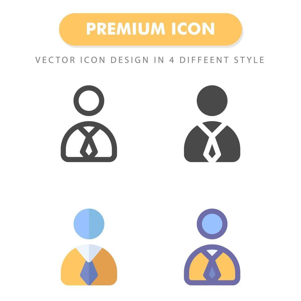 pack d'icônes homme d'affaires isolé sur fond blanc. pour la conception de votre site Web, logo, application, interface utilisateur. illustration graphique vectorielle et trait modifiable. eps 10 vecteur