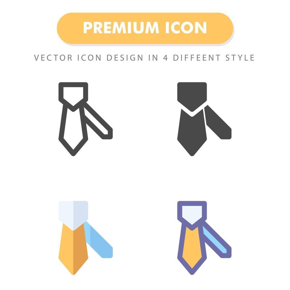 pack d'icônes de cravate isolé sur fond blanc. pour la conception de votre site Web, logo, application, interface utilisateur. illustration graphique vectorielle et trait modifiable. eps 10. vecteur