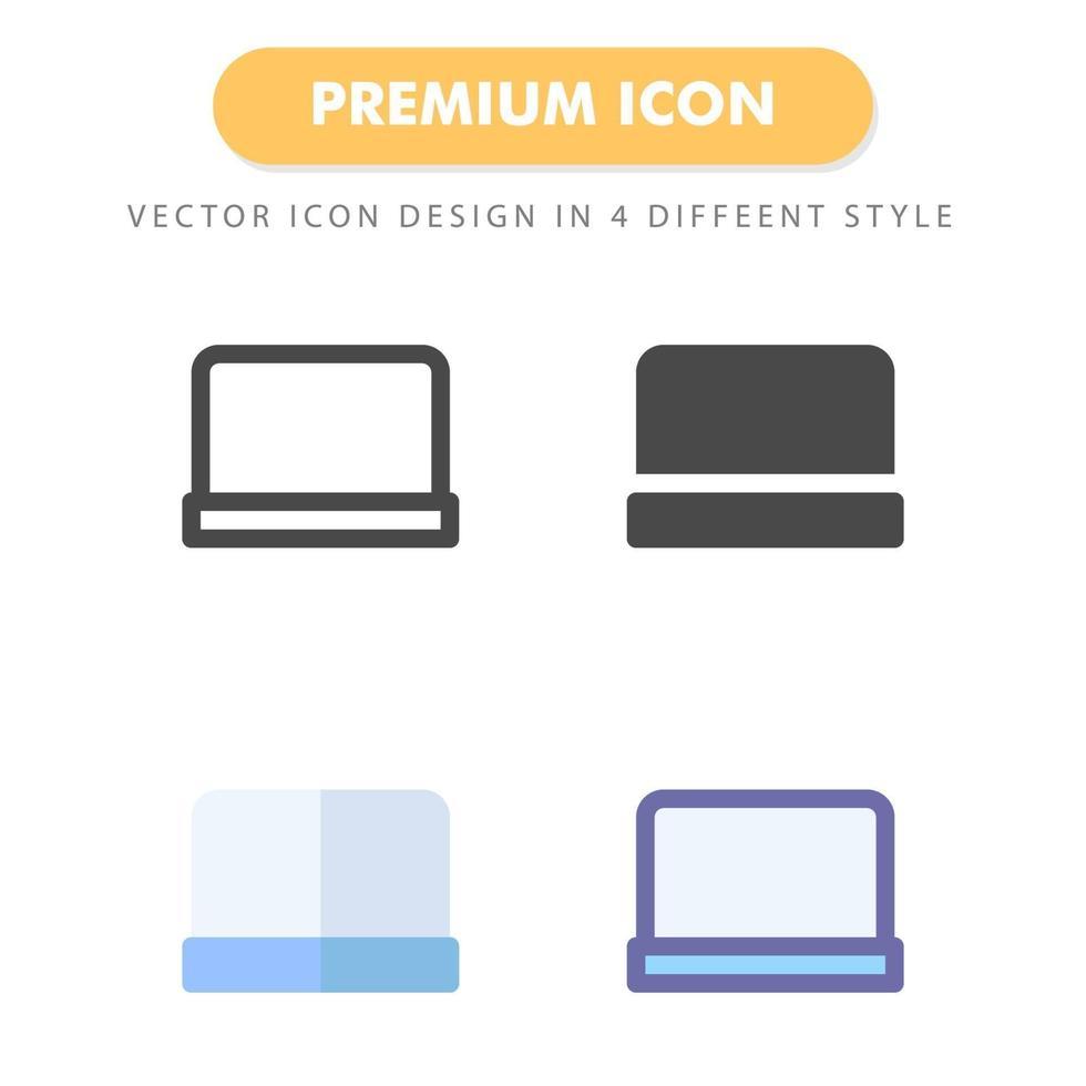 pack d'icônes d'ordinateur portable isolé sur fond blanc. pour la conception de votre site Web, logo, application, interface utilisateur. illustration graphique vectorielle et trait modifiable. eps 10. vecteur