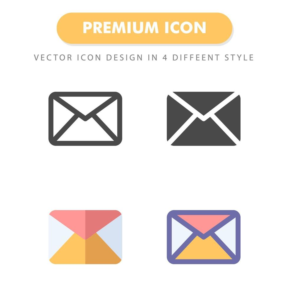 pack d'icônes de courrier électronique isolé sur fond blanc. pour la conception de votre site Web, logo, application, interface utilisateur. illustration graphique vectorielle et trait modifiable. eps 10. vecteur