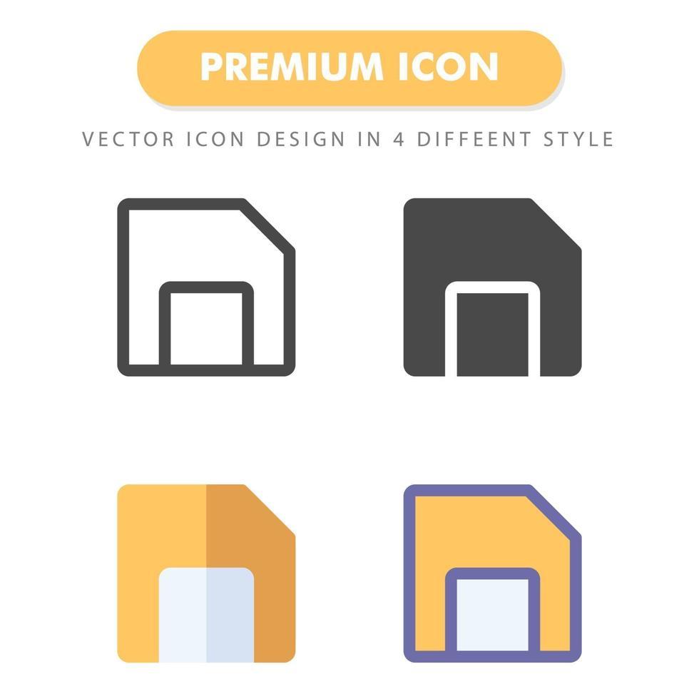 Pack d'icônes de disquette de disquette isolé sur fond blanc. pour la conception de votre site Web, logo, application, interface utilisateur. illustration graphique vectorielle et trait modifiable. eps 10. vecteur