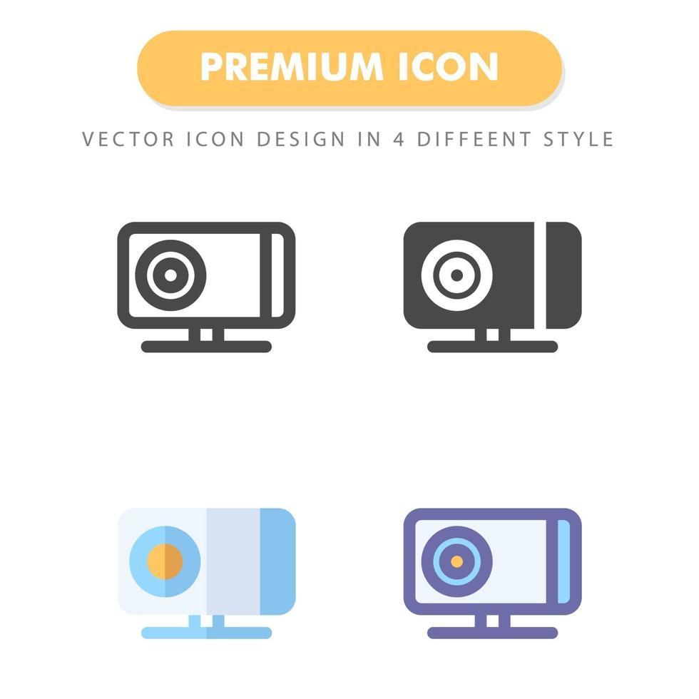 pack d'icônes de projecteur isolé sur fond blanc. pour la conception de votre site Web, logo, application, interface utilisateur. illustration graphique vectorielle et trait modifiable. eps 10. vecteur