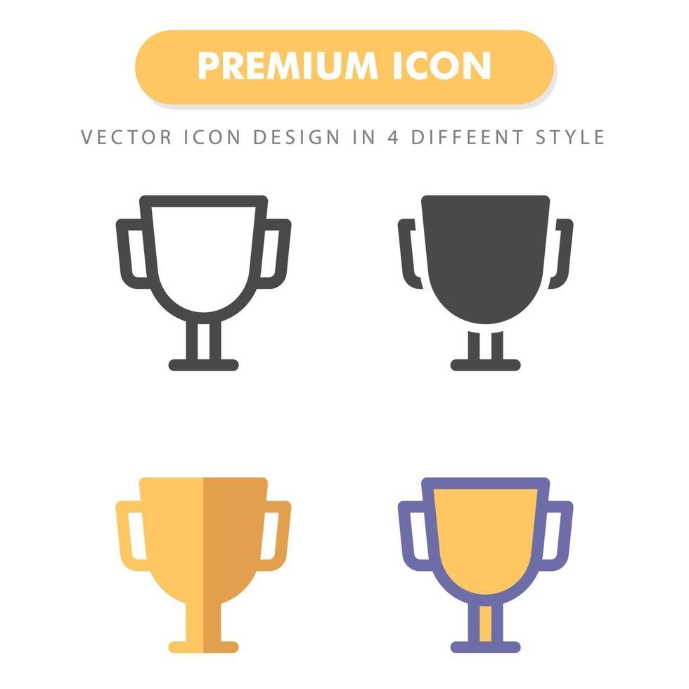 pack d'icônes de trophée isolé sur fond blanc. pour la conception de votre site Web, logo, application, interface utilisateur. illustration graphique vectorielle et trait modifiable. eps 10. vecteur